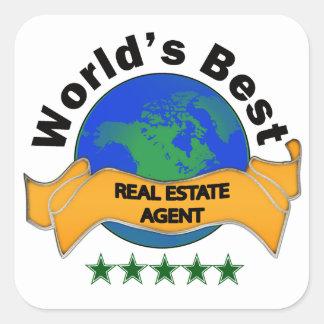 World's Best Real Estate Agent Square Sticker