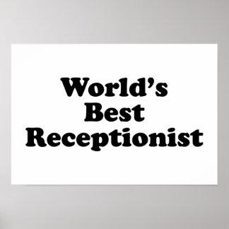 World's Best receptionist Poster