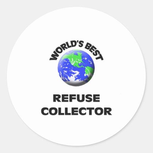 World's Best Refuse Collector Classic Round Sticker