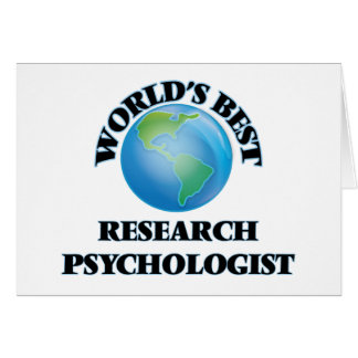 World's Best Research Psychologist Card