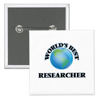 World's Best Researcher Pinback Buttons