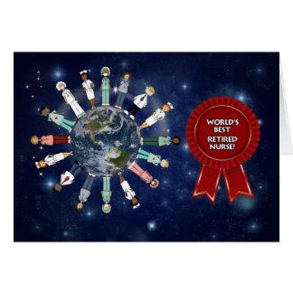 World's Best Retired Nurse Card