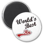World's Best RN 2 Inch Round Magnet