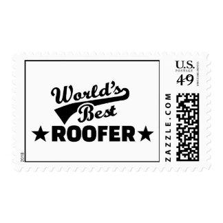 World's best roofer postage