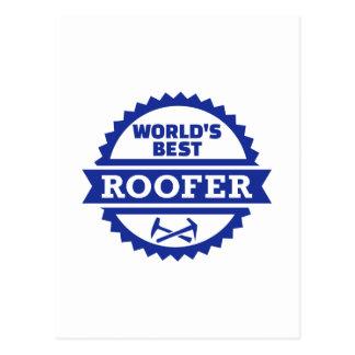 World's best roofer postcard