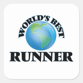 World's Best Runner Square Stickers