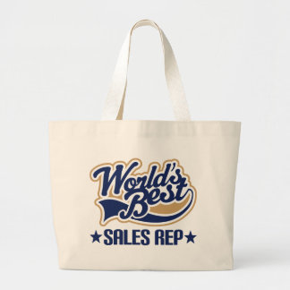 Worlds Best Sales Rep Large Tote Bag