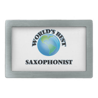 World's Best Saxophonist Rectangular Belt Buckles