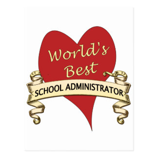 World's Best School Administrator Postcard