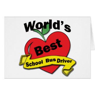 World's Best School Bus Driver Card