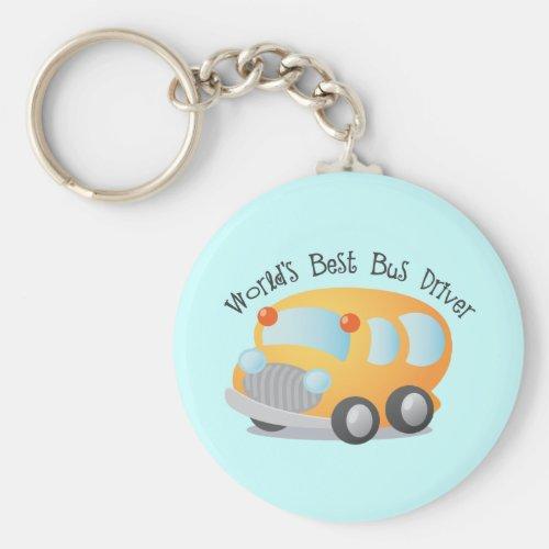 Worlds Best School Bus Driver Gift Keychain