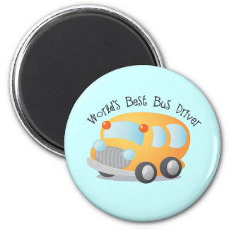 World's Best School Bus Driver Gift Refrigerator Magnets