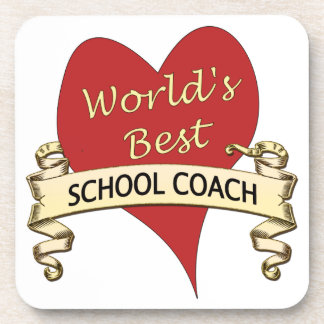 World's Best School Coach Beverage Coaster