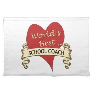 World's Best School Coach Cloth Placemat