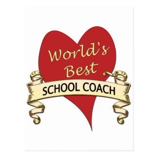 World's Best School Coach Postcard