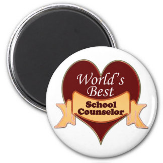 World's Best School Counselor 2 Inch Round Magnet