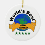 World's Best School Counselor Christmas Ornaments