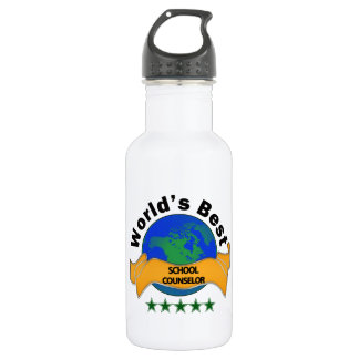 World's Best School Counselor Stainless Steel Water Bottle