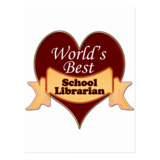 World's Best School Librarian Postcard