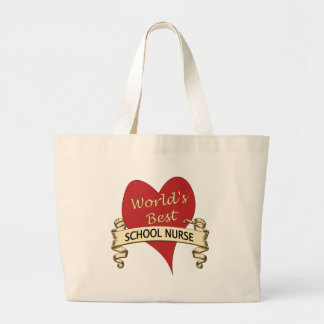World's Best School Nurse Canvas Bags