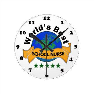 World's Best School Nurse Clock