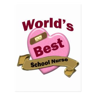 World's Best School Nurse Postcard