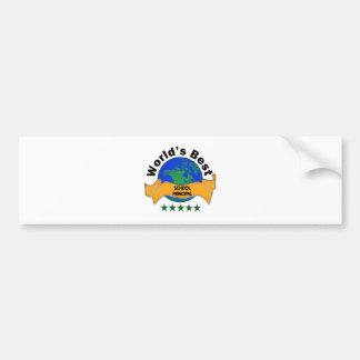 World's Best School Principal Bumper Sticker