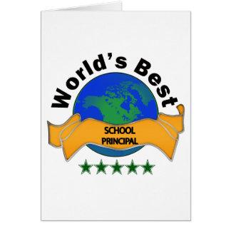 World's Best School Principal Card