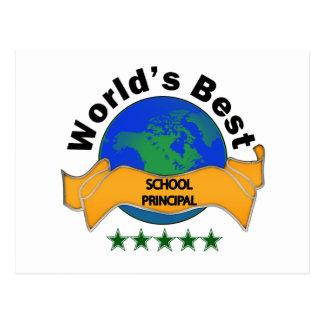 World's Best School Principal Postcard