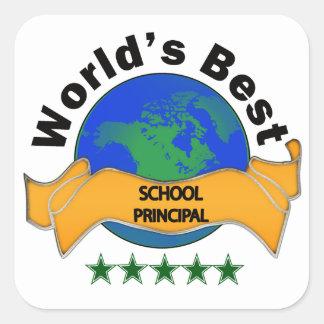 World's Best School Principal Square Sticker