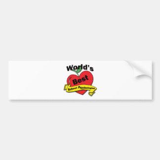 World's Best School Psychologist Bumper Sticker