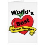 World's Best School Secretary Card