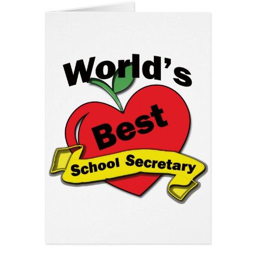 World's Best School Secretary Card | Zazzle
