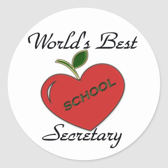 World's Best School Secretary Classic Round Sticker