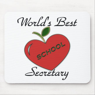 World's Best School Secretary Mousepads