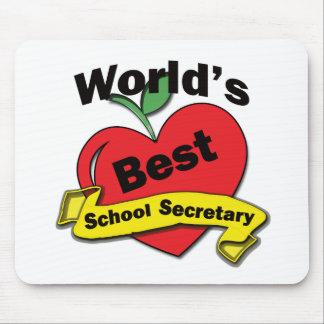World's Best School Secretary Mousepad