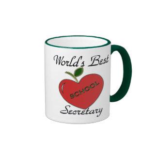 World's Best School Secretary Mug