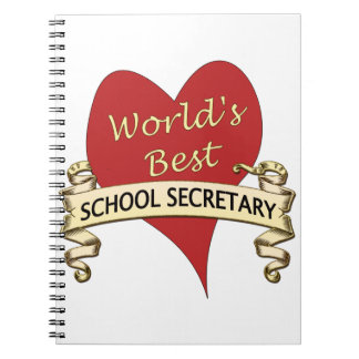 World's Best School Secretary Notebook