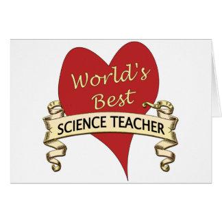 World's Best Science Teacher Card