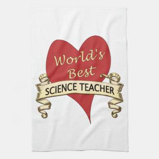World's Best Science Teacher Towels