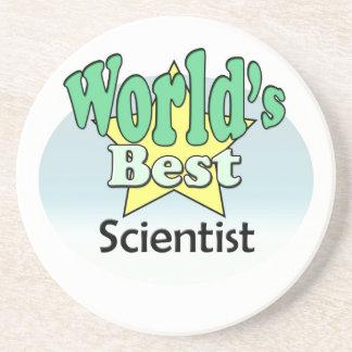 World's best Scientist Sandstone Coaster