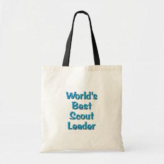 World's best Scout Leader merchandise Canvas Bags