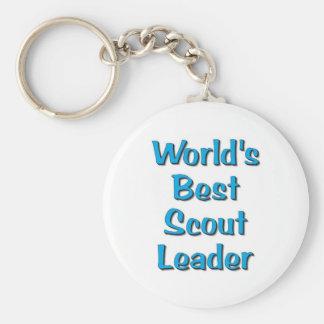 World's best Scout Leader merchandise Basic Round Button Keychain