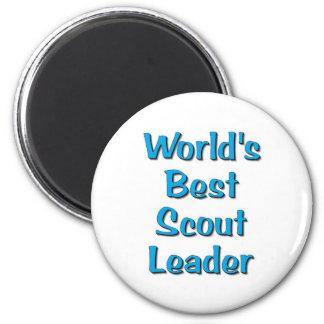 World's best Scout Leader merchandise Magnet