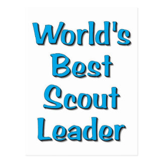 World's best Scout Leader merchandise Postcard
