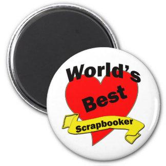 World's Best Scrapbooker 2 Inch Round Magnet