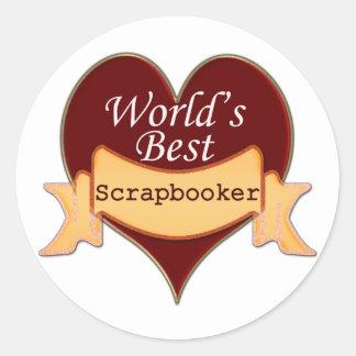 World's Best Scrapbooker Round Sticker