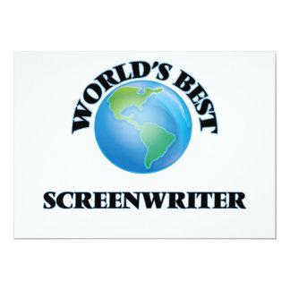 "World's Best Screenwriter 5"" X 7"" Invitation Card"