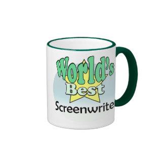 World's best Screenwriter Ringer Mug