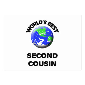 World's Best Second Cousin Business Card Template